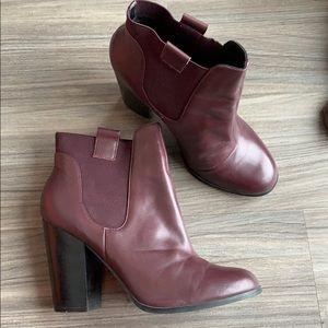 Shoemint Portia bordeaux leather booties
